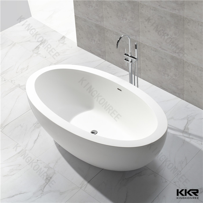Vasca da bagno ellittica in solid surface KKR-B048