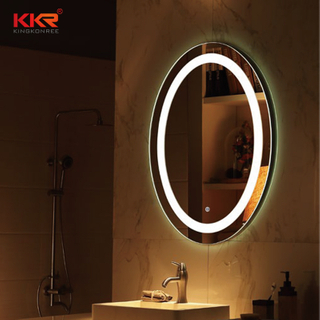Buona qualità di figura rotonda Bathroom Vanity specchio con luce Led Partita per high-end design KKR-8011